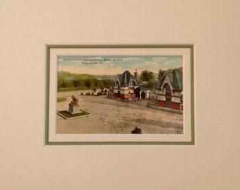 Philadelphia Zoo Vintage Postcard Matted-$25