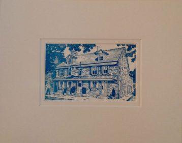 Temperance House Vintage Postcard $22
