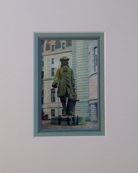 William Penn Statue Vintage Postcard $22
