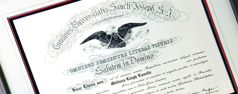 Diploma and Document Custom Framing
