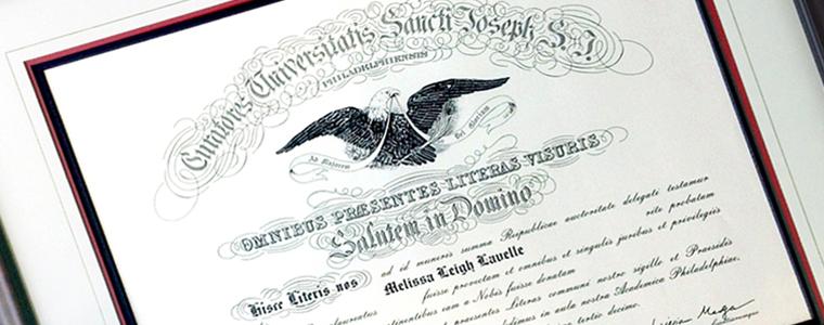 Diploma and Document Custom Framing