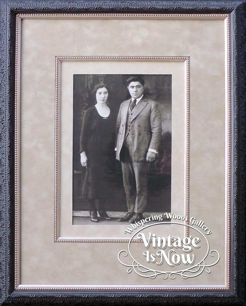 Vintage photo 1920's custom framed