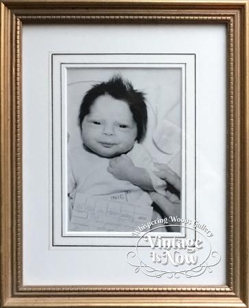 Baby Photo custom framed