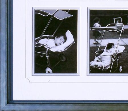 Custom framed baby photo montage