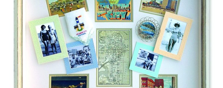 Vintage Postcard Shadowbox