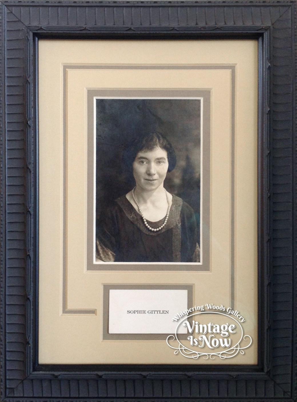 Custom framed photo and calling card