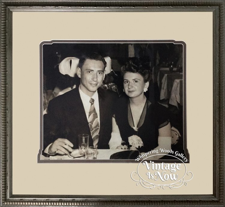 Vintage custom framed photo