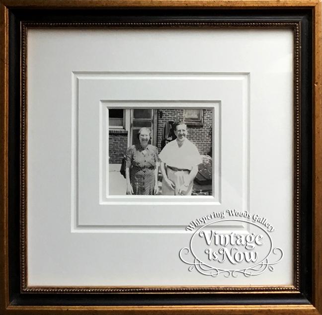 1940's photo snapshot custom framed