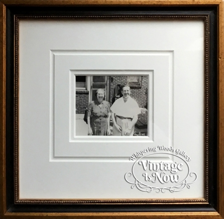 1940's photo snapshot custom framed