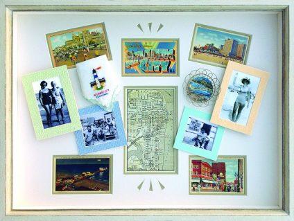 Vintage postcards vacation memories