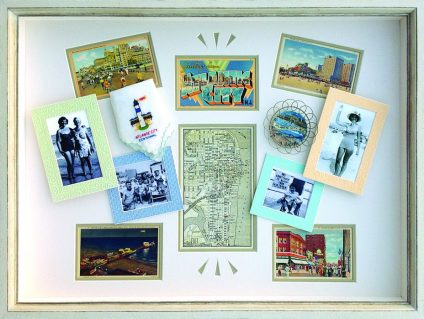 Vintage postcards vacation memories