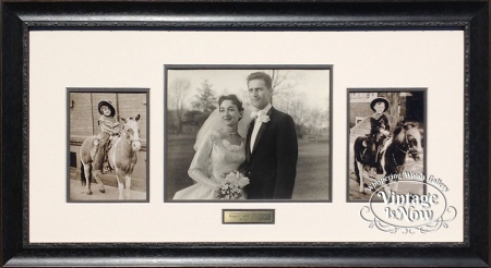 Framed pony and wedding photos