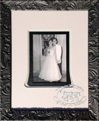 Wedding photo custom framed