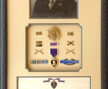 Custom Framed WWII memorabilia