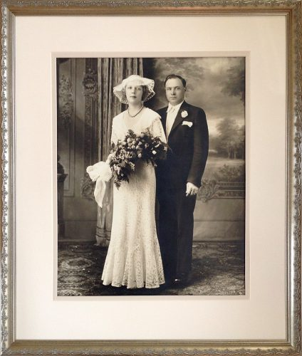 Custom framed wedding portrait