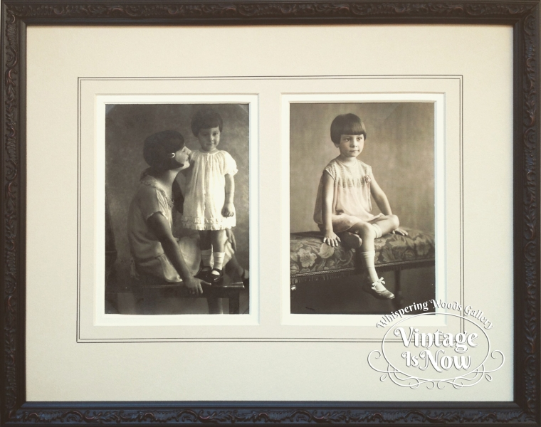 Vintage photography custom framed