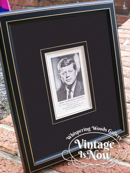 John F. Kennedy Mass Card Custom Framed