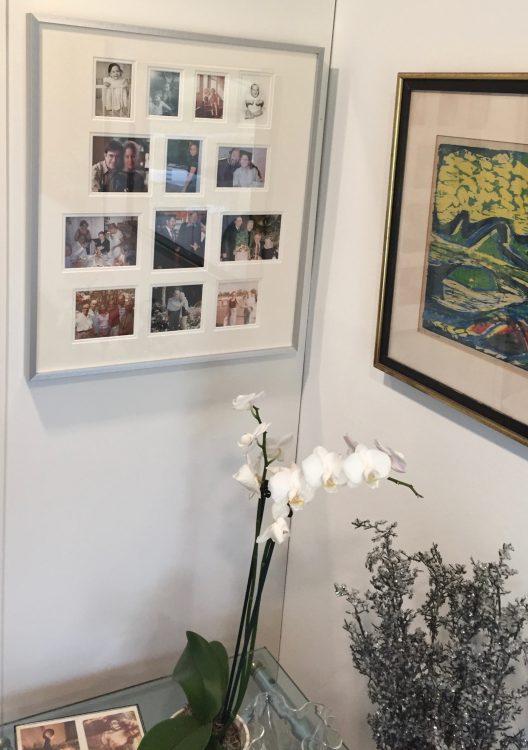 Custom framed photo montage