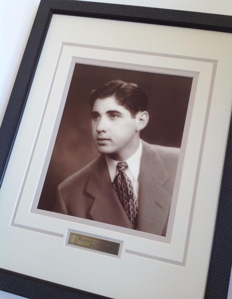 Custom framed high school photo
