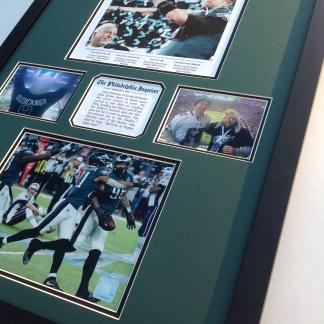 Custom Framed Eagles Super Bowl items