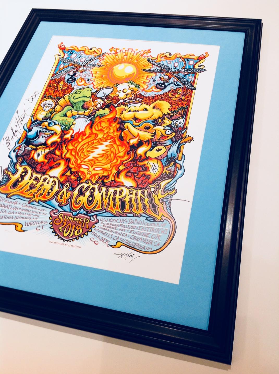 Custom Framed Concert poster