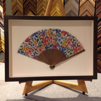 Custom Framed Fan from a trip to the Orient