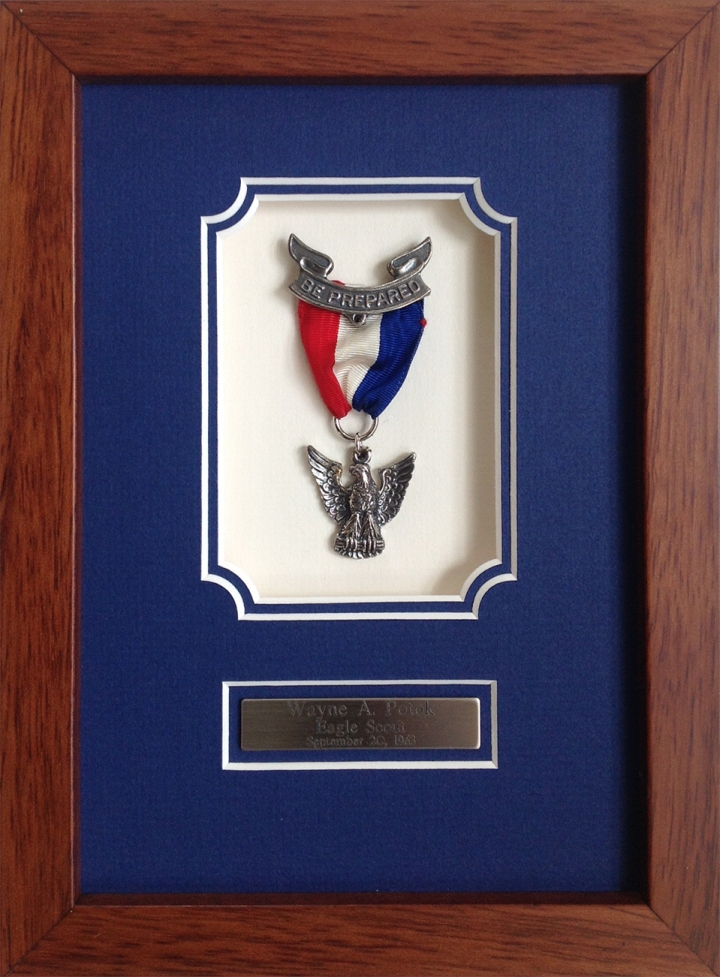 Custom Framed Eagle Scout Pin