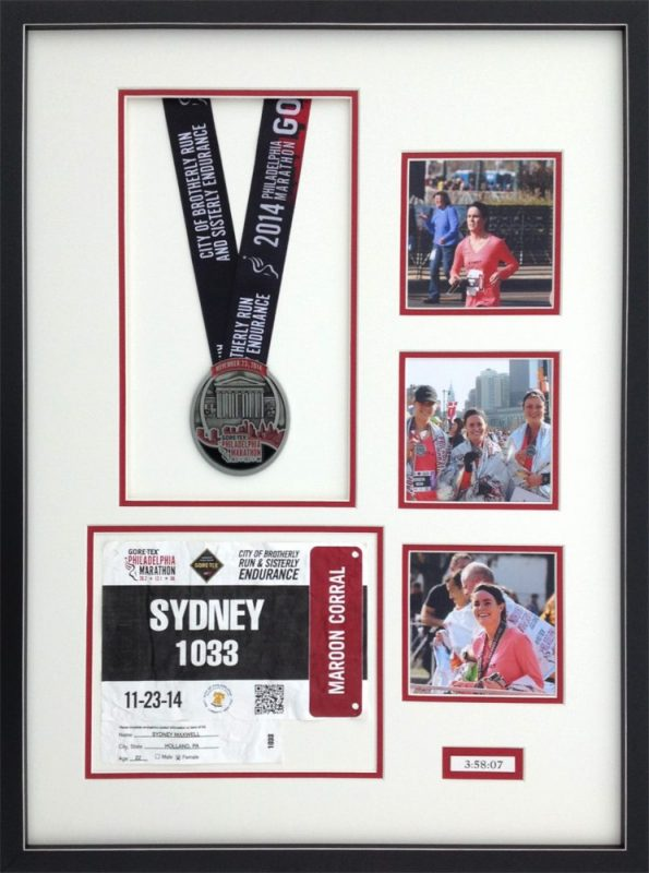 Framed Philadelphia Marathon items