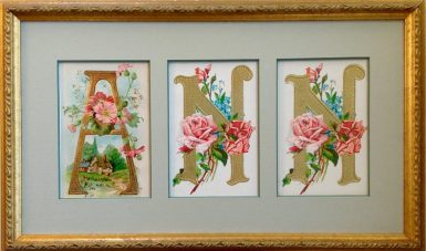 Custom Framed Vintage Postcards