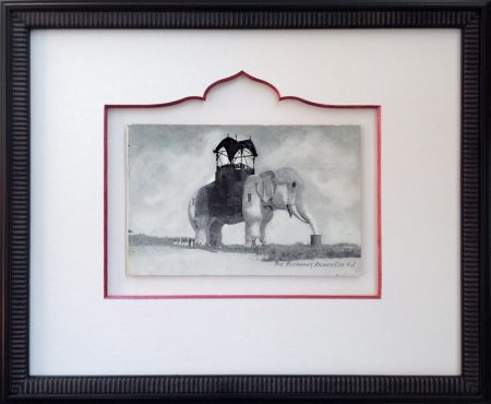 Custom Framed Vintage Lucy the Elephant Postcard