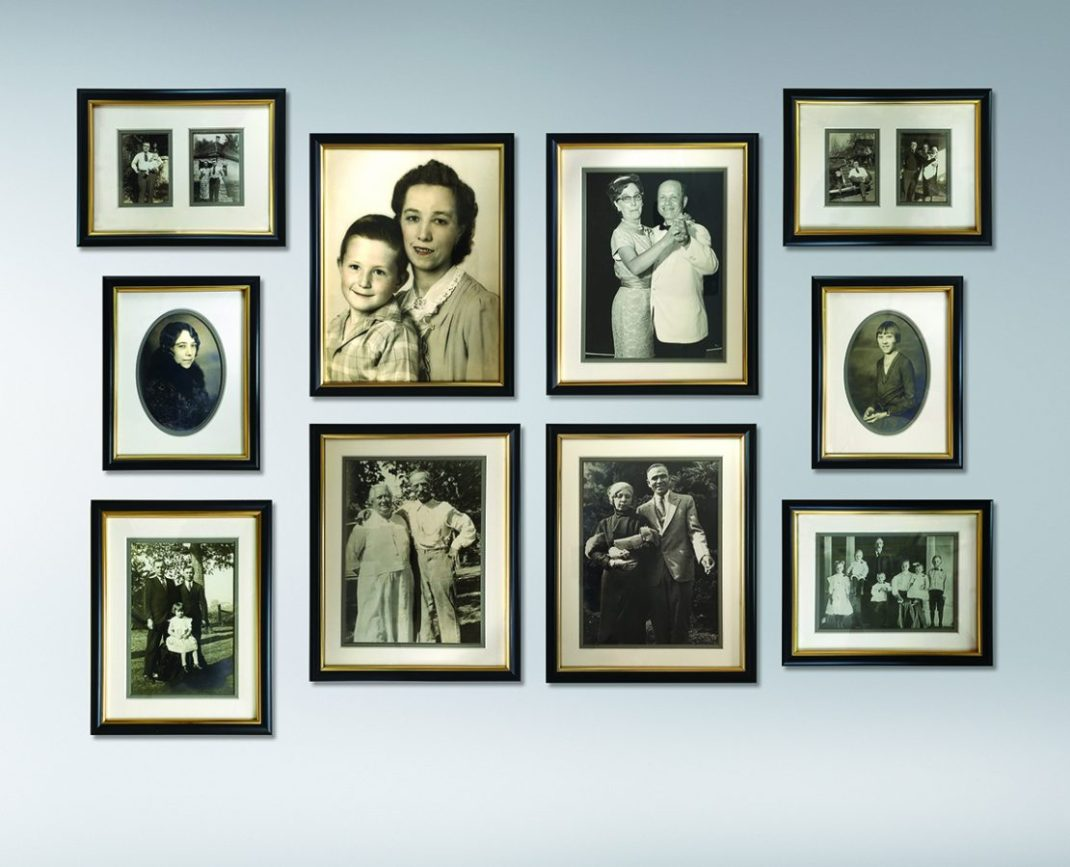 vintage photo gallery wall