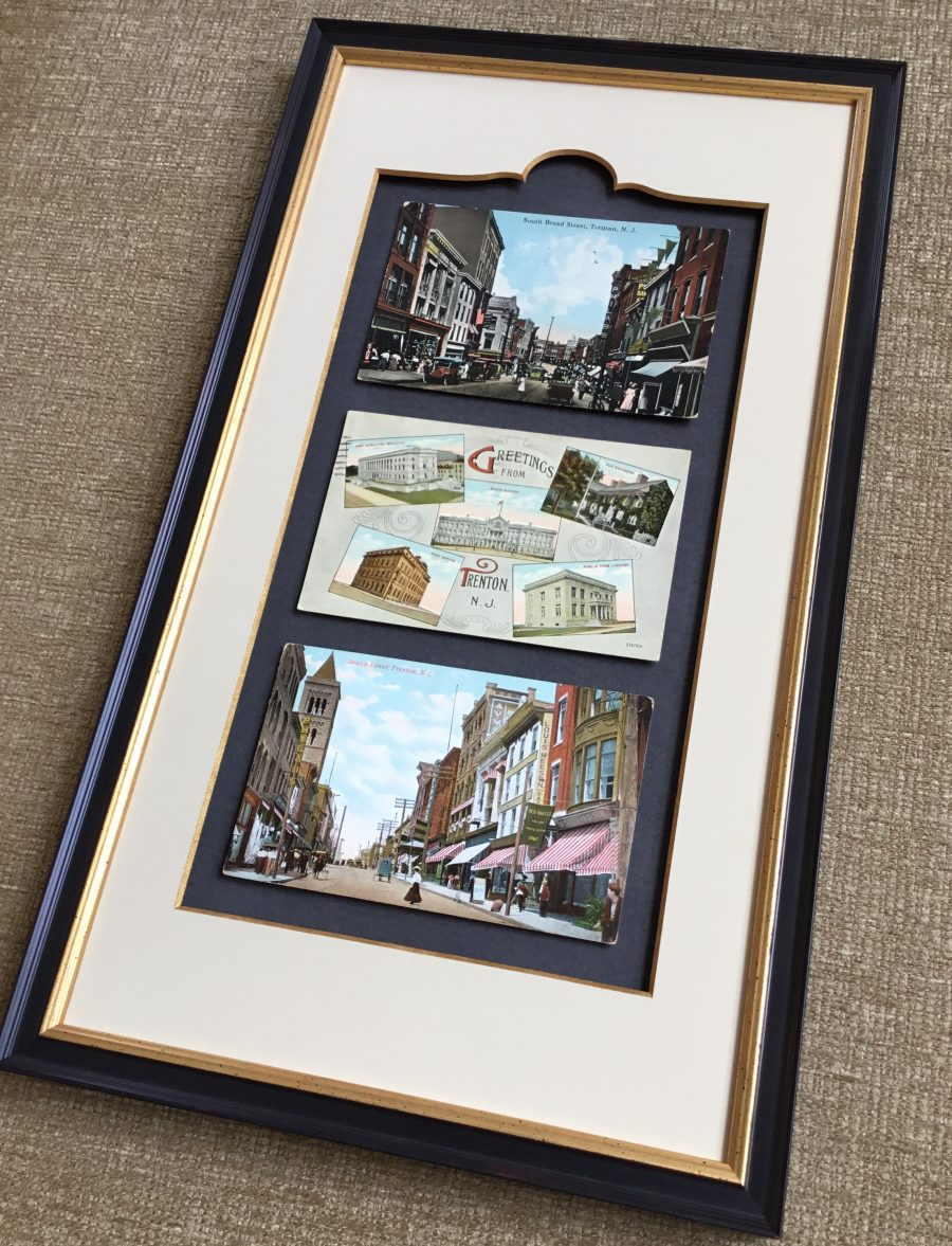 Custom Framed Vintage Trenton Postcards