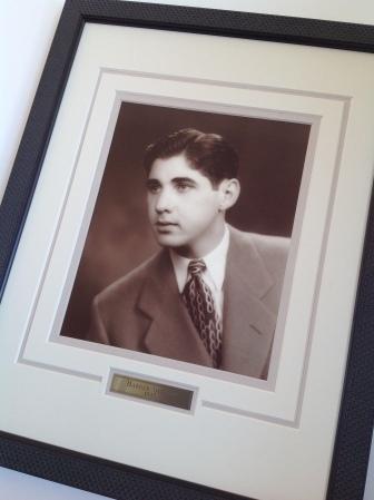 Custom framed 1940's portrait