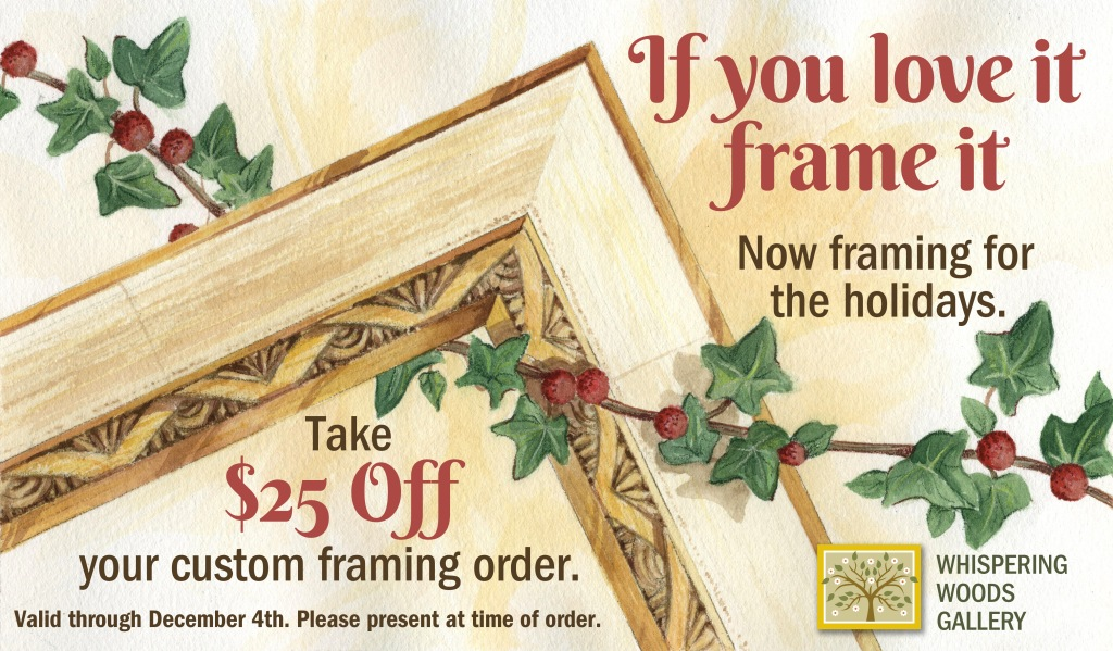 Holiday custom framing savings