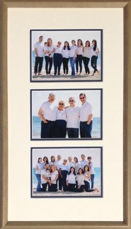 Family vacation photos custom framed