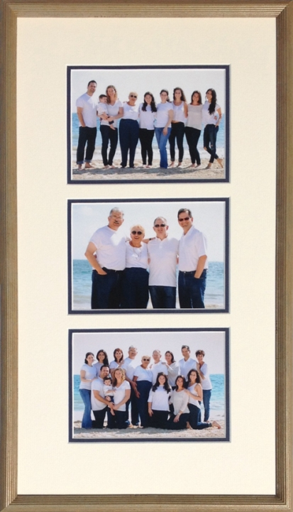 Family vacation photos custom framed