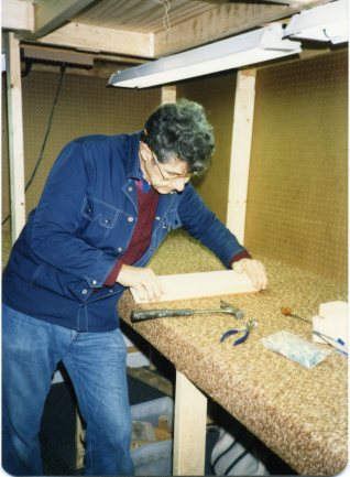 Here's our Dad helping us set up shop in 1986. We remember him everyday.