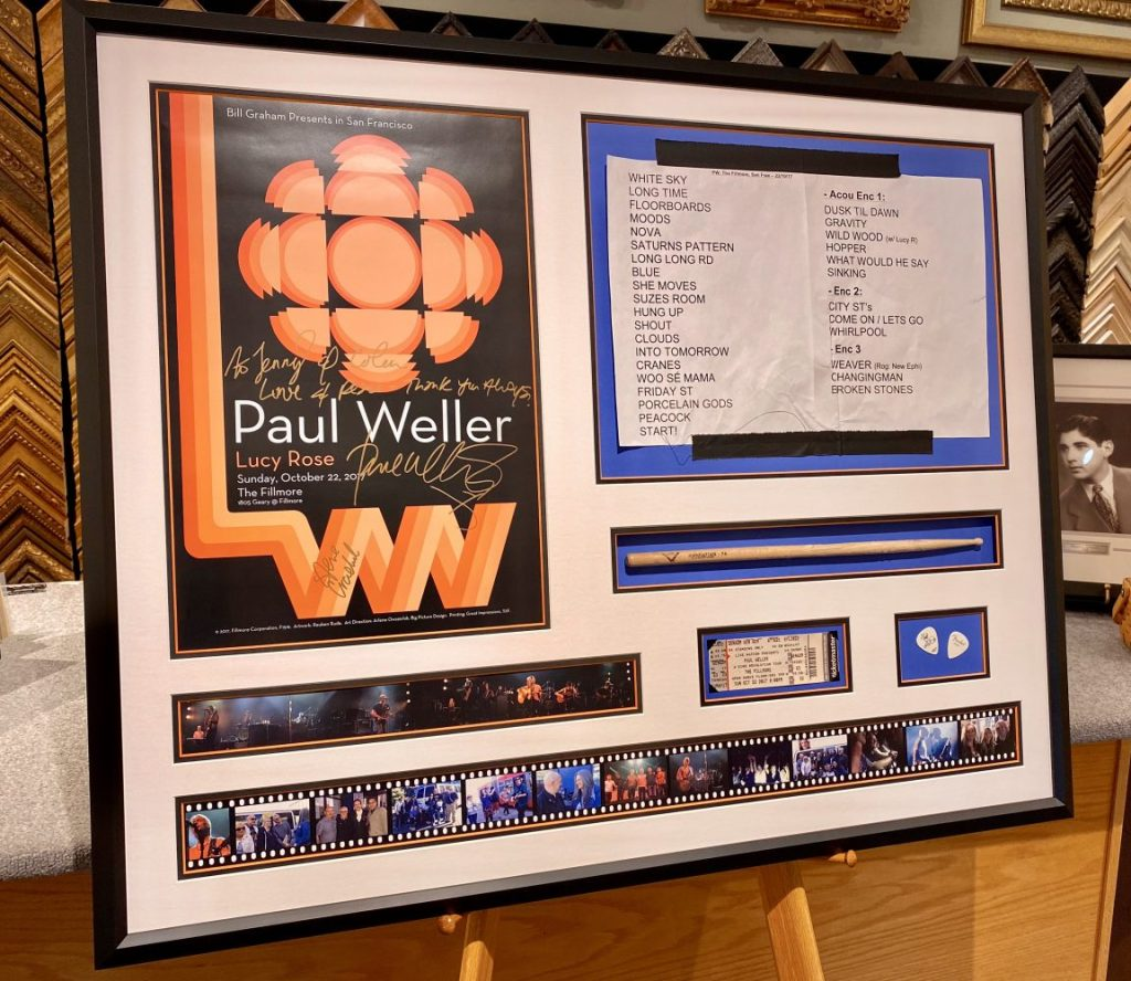 Paul Weller framed concert memorabilia