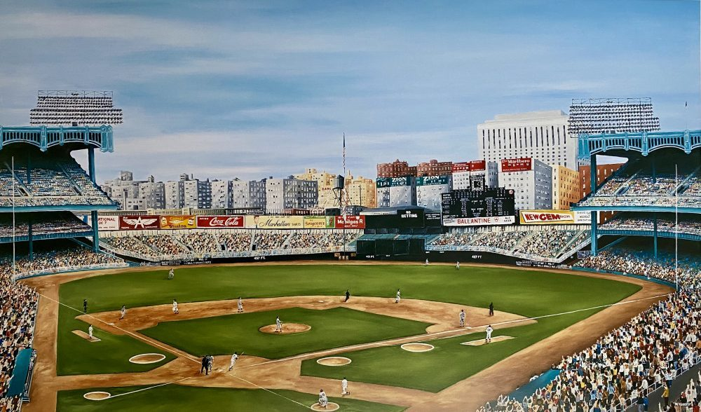 Yankee Stadium, At Home in the Bronx, Ballpark print by Michael Kuyper